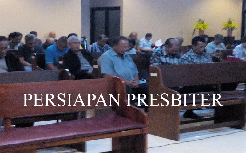 Persiapan Presbiter 29 Juli 16