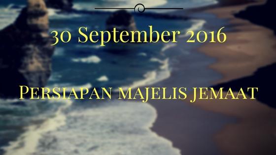 Persiapan Majelis Jemaat 30 Sep