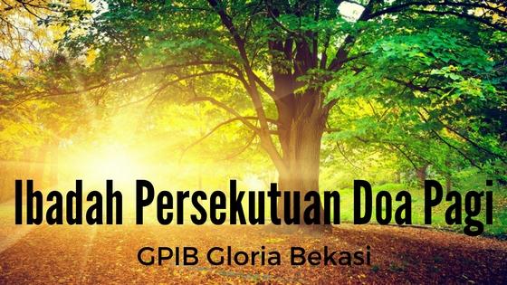 Persekutuan Doa Pagi 01 Okt