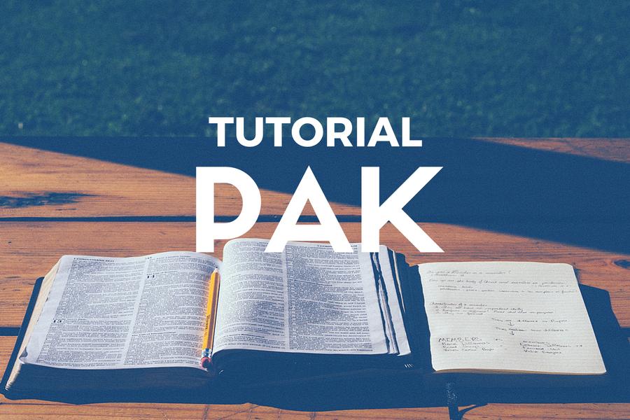 Tutorial PAK dan Kelas Alkitab
