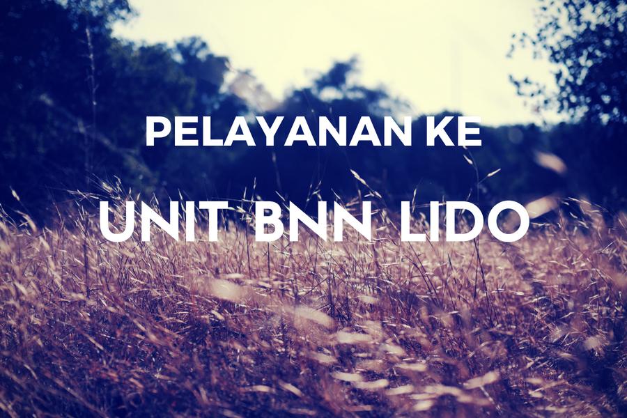 Pelayanan ke Unit BNN Lido 10 Jan 17