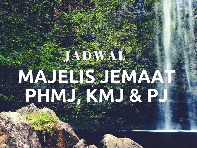 Kegiatan PHMJ, KMJ, PJ 29 Jan – 4 Feb '18