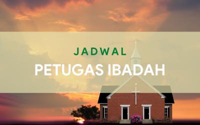 Petugas Ibadah Keluarga 27 Mei dan Ibadah Minggu 31 Mei 2020