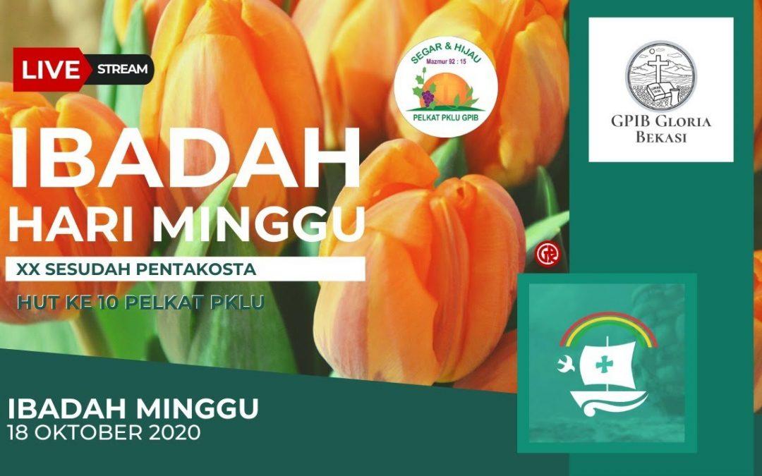 Live Streaming : Ibadah Minggu 18 Oktober 2020