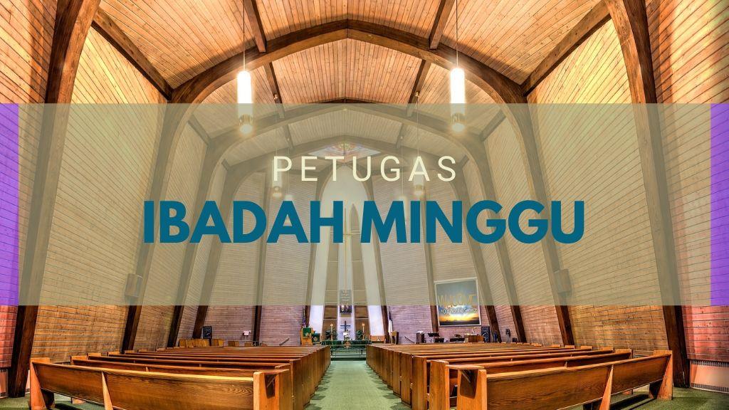 Petugas Ibadah Minggu 22 Mar '20 (MINGGU III PRAPASKAH)