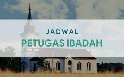 Petugas Ibadah Minggu 18 April 2021